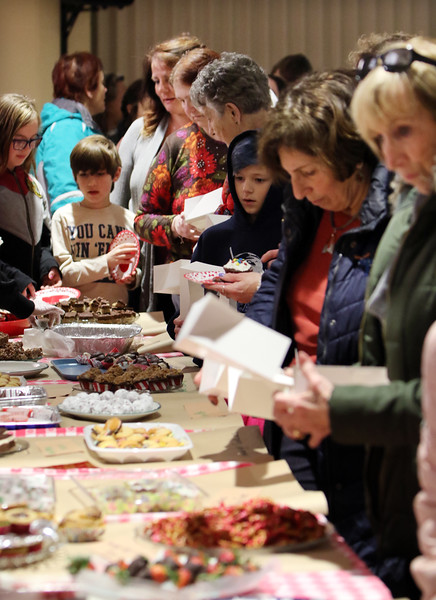 Wilmington-Tewksbury United Methodist Women hold their third annual Chocolate Festival, a fundraiser for local organizations that help women and children.  (SUN/Julia Malakie)