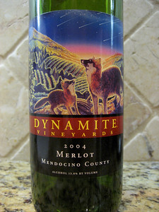 Dynamite Vinyards Merlot 2004