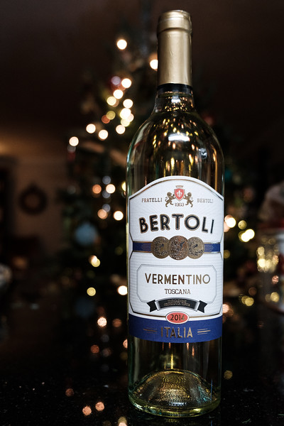 Bottle of Bertolli Vermentino