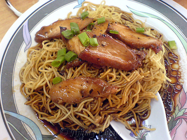 Wan Tan Noodle. You can request for non-fat Char Siew.