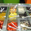 Some of the toppings you can find for your Yogurt at the Orange Leaf in Leominster. SENTINEL & ENTERPRISE/JOHN LOVE