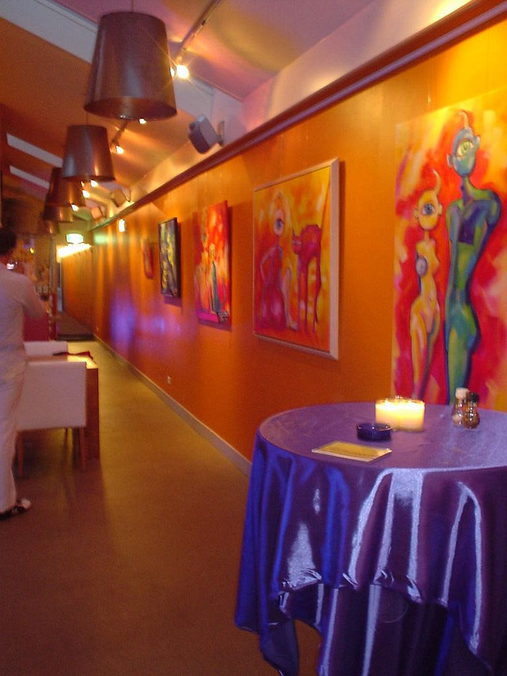 The place is also used as an art gallery