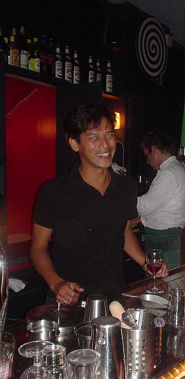 "René, the owner of <a href=""http://www.cafemax.nl/"">Max</a>"
