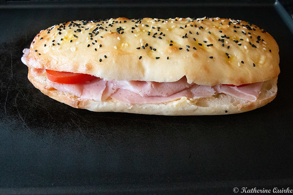 Ham and Tomato on Turkish