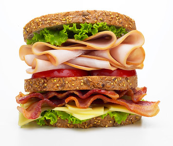 Turkey club sandwich for Chef Ted Reader and Plumrose USA