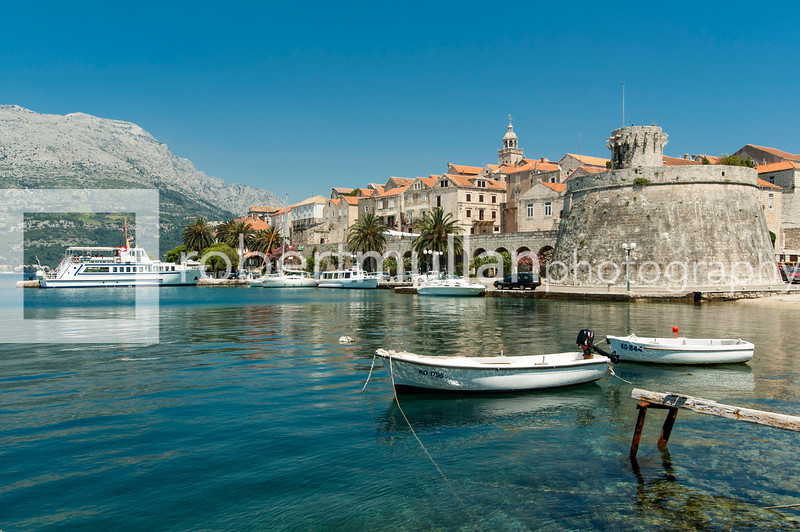 The harbor, Korčula