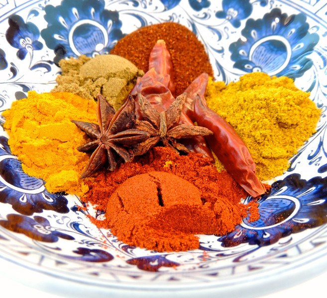 Spices in a Turkish Bowl