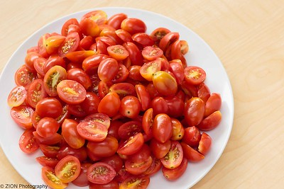 Cut Cherry Tomatoes