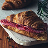 croissant with salami