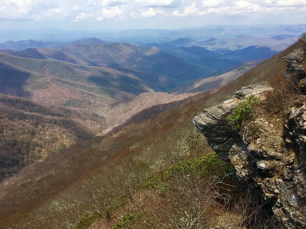 the Blue Ridge Mountains outside of Asheville North Carolina