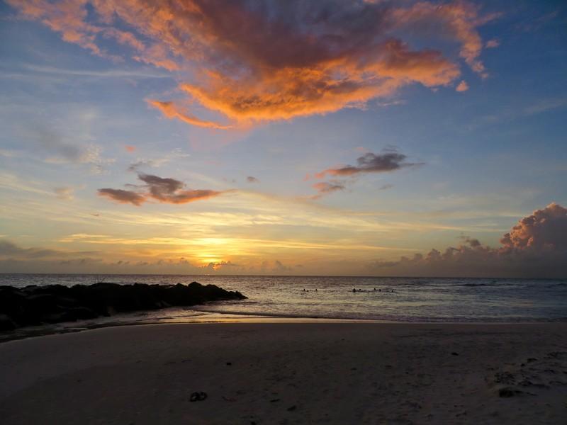 sunset in Bridgetown, Barbados