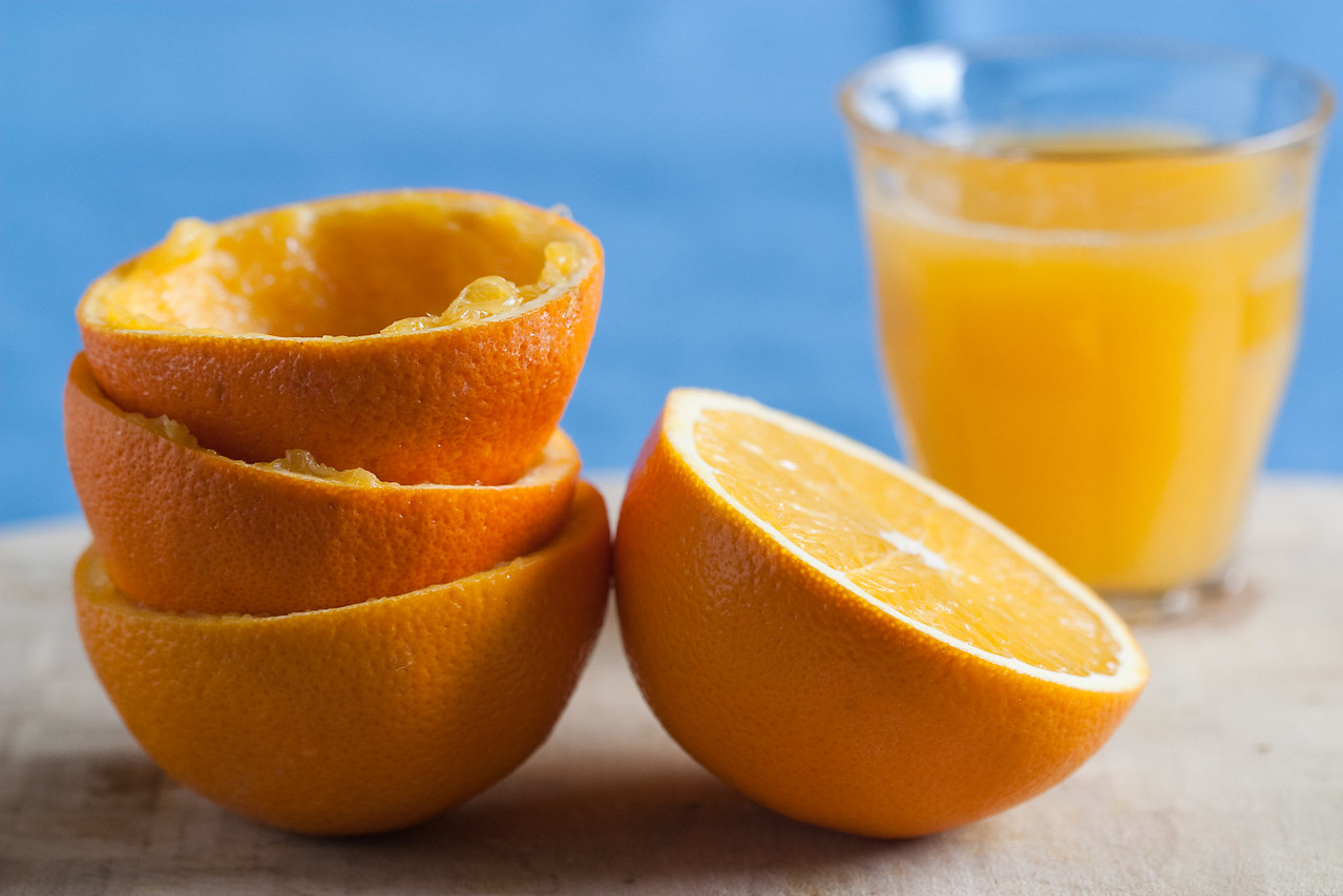 Oranges and juice.