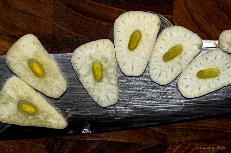 Sliced Garlic  1/23/2012
