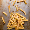 fries on steel plate