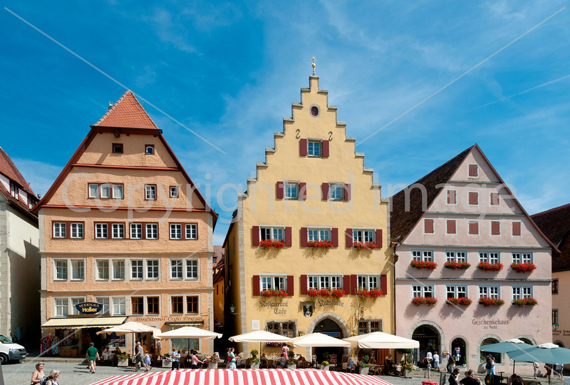 In the main square in Rothenburg, Germany