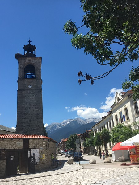 the mountain town of Bansko, Bulgaria