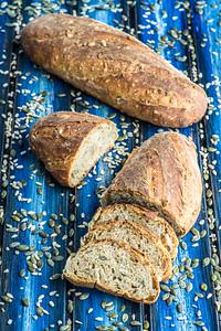 Spelt seed sourdough bread