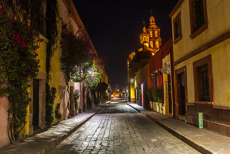 Queretaro, Mexico at night