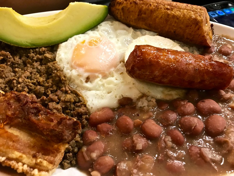 bandeja paisa in Salento, Colombia