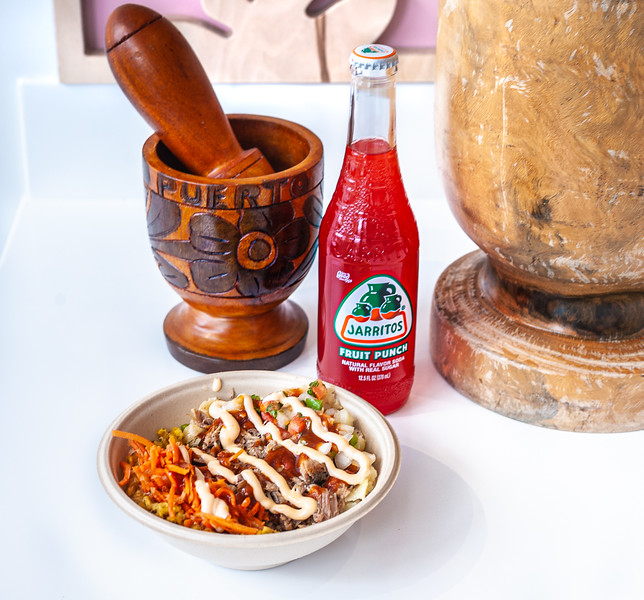 Steak Bowl with Mexican Soda