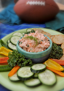A dip that would make a great Superbowl treat is this salmon dip made by Gwen McKee of Brandon.
