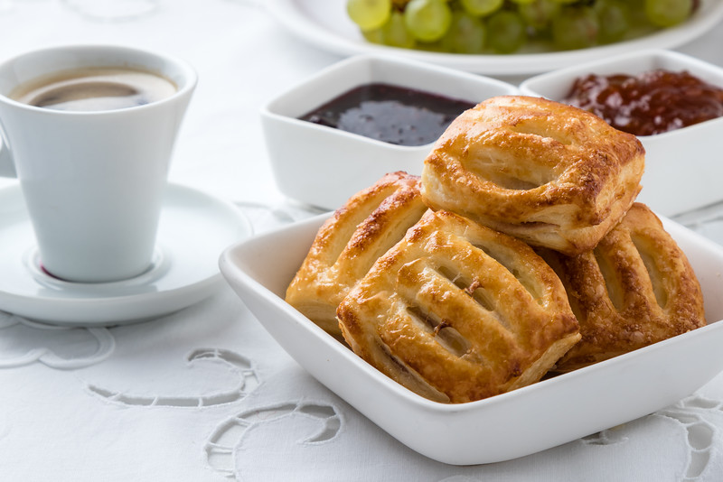 sweet puff pastry snack