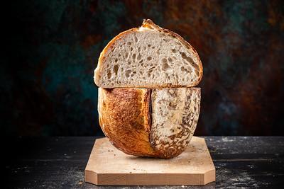 Sourdough bread with ears