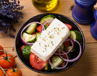 rustic greek salad
