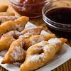 fried dough with jam