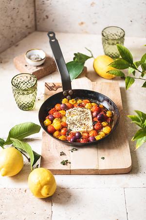 Feta et tomates rôties