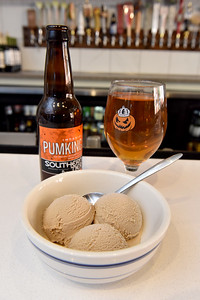 Saltine in Fondren features beer Ice creme made of the Southern Tier beer PumKing.