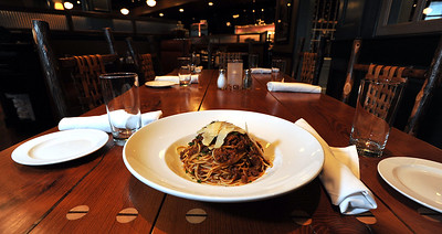 Thsi is Table 100 chef Mike Romhild's favorite dishes, Angle Hair Bolognese, available at the restaurant in Flowood.