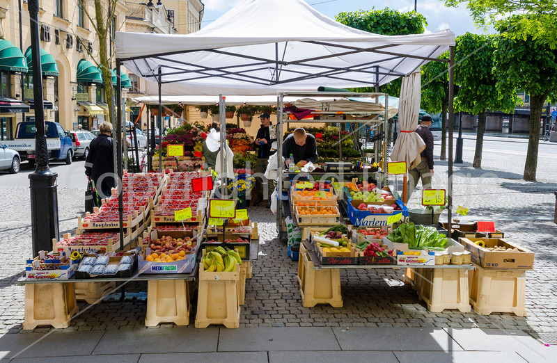 Fruit stall in Stockholm