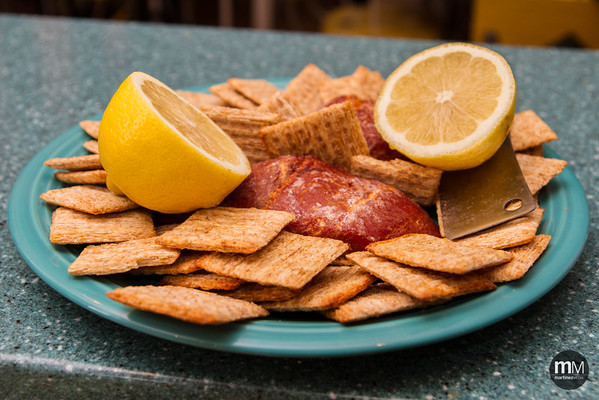 Smoked Salmon and Lemon with Wheat Thins