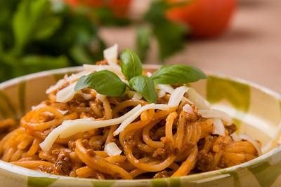 rustic spaghetti bolognese