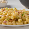 macaroni and cheese on white plate