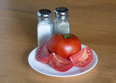Plate of tomato's.
