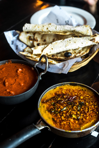 Butter chicken and Dal tadka