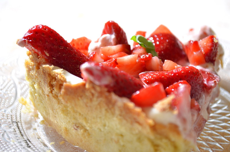 Strawberry Balsamic Tart With Mascarpone Cream