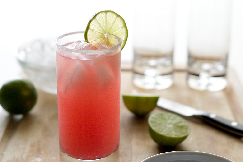 Watermelon agua fresca.