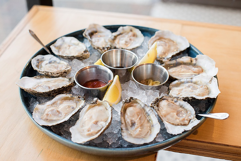 oysters at St. Roch's in Raleigh, North Carolina