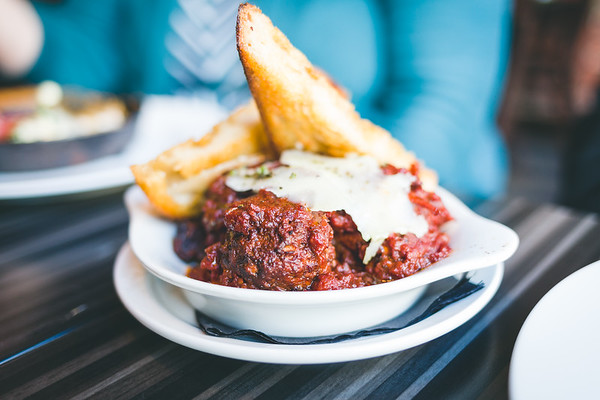 Meatballs - personal work at Pioneer restaurant, Indianapolis