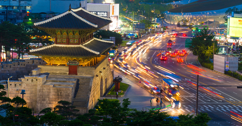 The Heunginjimun Gate, Seoul, South Korea