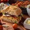 frittata with ciabatta sandwich