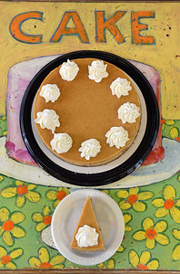 Campbell's Bakery chef Mitchell Moore's pumpkin pie cheesecake is delectable.
