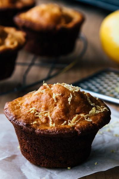 homemade lemon muffin