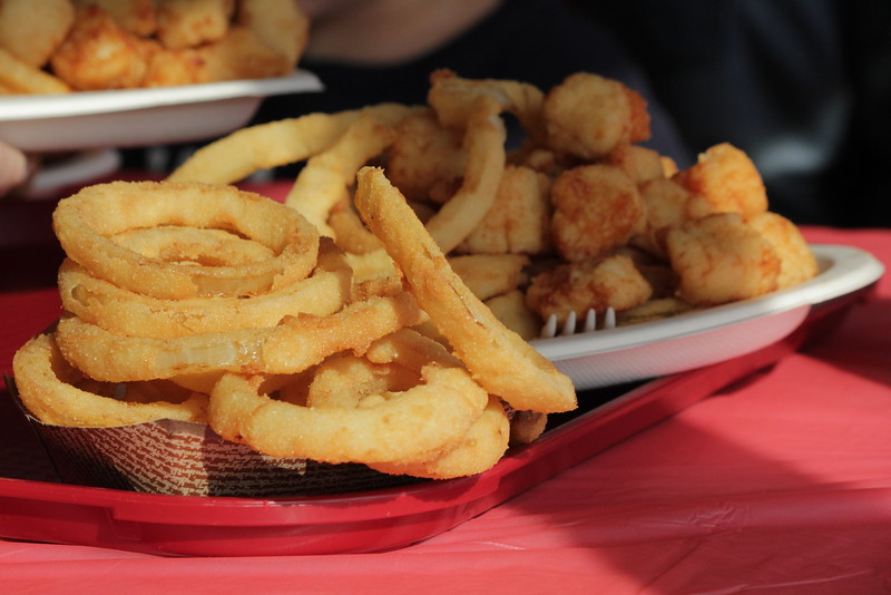 Onion Rings and Scallops