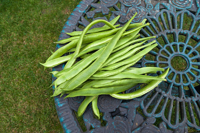Runner beans with space
