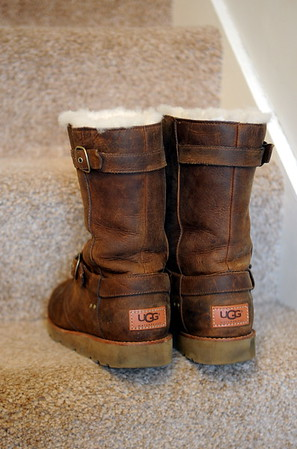 Still life image of Ugg Boots for Swansea Life magazine.