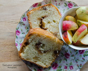 Sour Cream Apple Coffeecake with Home Grown Rome Apples